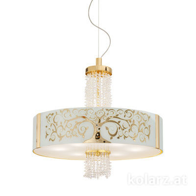 0345.36.3.Al.Go.KpT 24 Carat Gold, Ø60cm, Height 58cm, Min. height 60cm, Max. height 198cm, 6 lights, E27