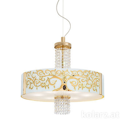 0345.36.3.Al.Go.OKpT 24 Carat Gold, Ø60cm, Height 58cm, Min. height 60cm, Max. height 198cm, 6 lights, E27
