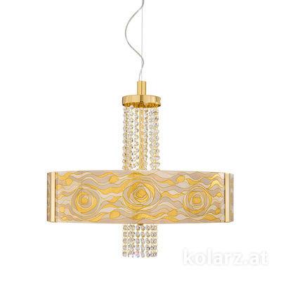 0345.36.3.Aq.Ch.OKpT 24 Carat Gold, Ø60cm, Height 58cm, Min. height 60cm, Max. height 198cm, 6 lights, E27