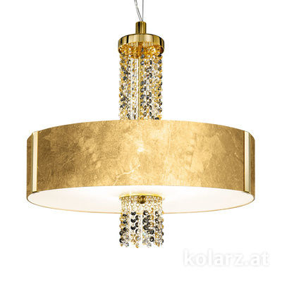0345.36.3.Au.ETGn 24 Carat Gold, Ø60cm, Height 58cm, Min. height 60cm, Max. height 198cm, 6 lights, E27