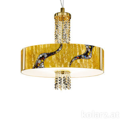 0345.36.3.Ki.Au.ETGn 24 Carat Gold, Ø60cm, Height 58cm, Min. height 60cm, Max. height 198cm, 6 lights, E27