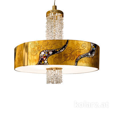 0345.36.3.Ki.Au.KpT 24 Carat Gold, Ø60cm, Height 58cm, Min. height 60cm, Max. height 198cm, 6 lights, E27