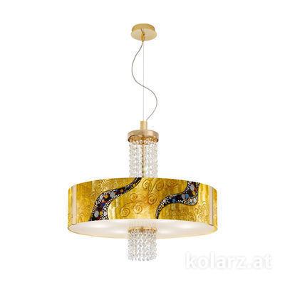 0345.36.3.Ki.Au.OKpT 24 Carat Gold, Ø60cm, Height 58cm, Min. height 60cm, Max. height 198cm, 6 lights, E27
