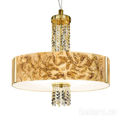 0345.36.3.Li.GA.ETGn 24 Carat Gold, Ø60cm, Height 58cm, Min. height 60cm, Max. height 198cm, 6 lights, E27