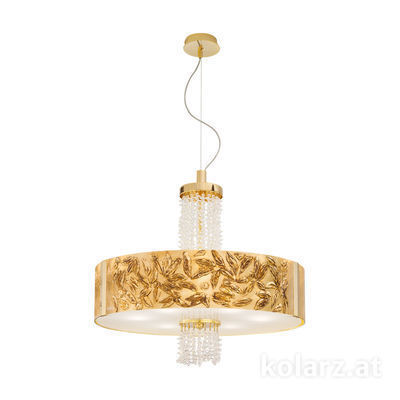 0345.36.3.Li.GA.KpT 24 Carat Gold, Ø60cm, Height 58cm, Min. height 60cm, Max. height 198cm, 6 lights, E27
