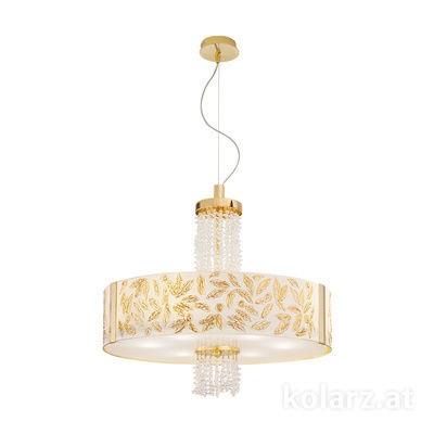 0345.36.3.Li.WA.KpT 24 Carat Gold, Ø60cm, Height 58cm, Min. height 60cm, Max. height 198cm, 6 lights, E27