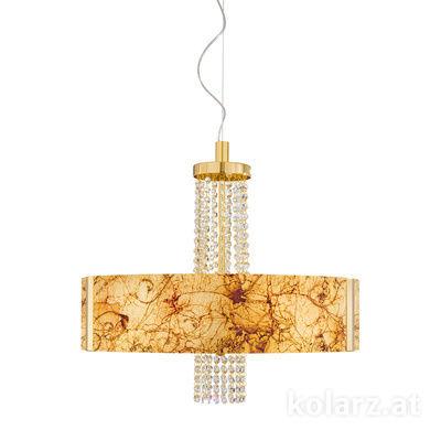 0345.36.3.Me.Au.OKpT 24 Carat Gold, Ø60cm, Height 58cm, Min. height 60cm, Max. height 198cm, 6 lights, E27