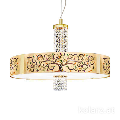 0345.38S.3.Al.MuOKpT 24 Carat Gold, Ø80cm, Height 60cm, Min. height 60cm, Max. height 200cm, 8 lights, E27