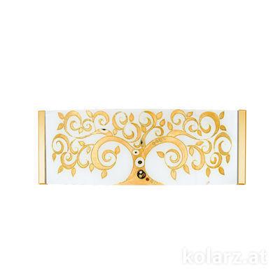 0345.62.3.Al.Go 24 Karat Gold, Breite 40cm, Höhe 20cm, 2-flammig, G9