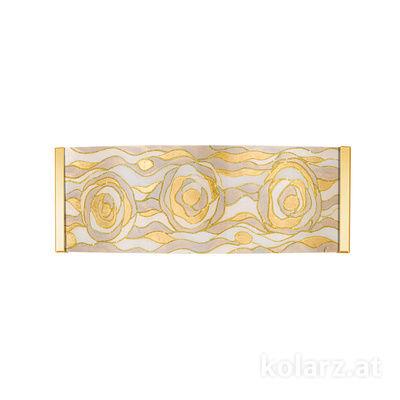 0345.62.3.Aq.CH 24 Karat Gold, Breite 40cm, Höhe 20cm, 2-flammig, G9