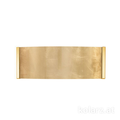 0345.62.3.Au 24 Karat Gold, Gold, Breite 40cm, Höhe 20cm, 2-flammig, G9