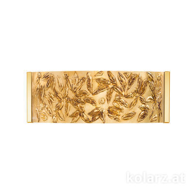 0345.62.3.Li.GA 24 Carat Gold, Width 40cm, Height 20cm, 2 lights, G9