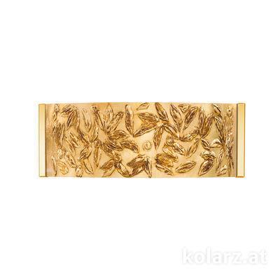 0345.62.3.Li.GA 24 Karat Gold, Breite 40cm, Höhe 20cm, 2-flammig, G9