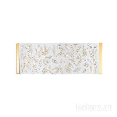 0345.62.3.Li.WA 24 Karat Gold, Breite 40cm, Höhe 20cm, 2-flammig, G9