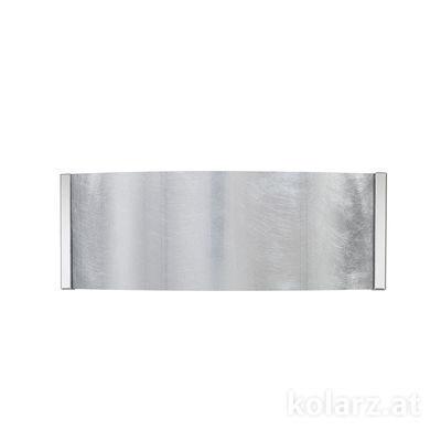 0345.62.5.Ag Chrom, Silber, Breite 40cm, Höhe 20cm, 2-flammig, G9