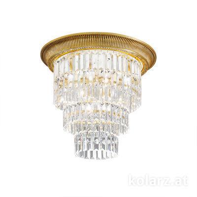 0346.14L.15 French Gold, Ø50cm, Height 46cm, 1+3 lights, E27+E14