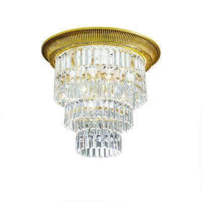 0346.14L.3 24 Carat Gold, Ø50cm, Height 46cm, 1+3 lights, E27+E14