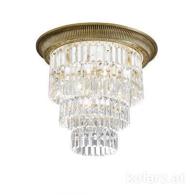 0346.14L.4 Antique Brass, Ø50cm, Height 46cm, 1+3 lights, E27+E14