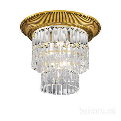 0346.14S.15 French Gold, Ø40cm, Height 36cm, 1+3 lights, E27+E14
