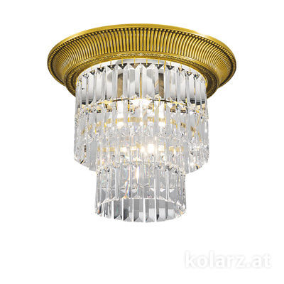 0346.14S.3 24 Carat Gold, Ø40cm, Height 36cm, 1+3 lights, E27+E14
