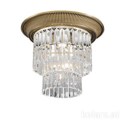 0346.14S.4 Antique Brass, Ø40cm, Height 36cm, 1+3 lights, E27+E14