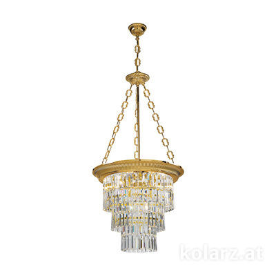 0346.34.15 French Gold, Ø50cm, Height 110cm, Min. height 120cm, Max. height 170cm, 4 lights, E27