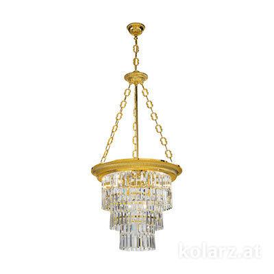 0346.34.3 24 Carat Gold, Ø50cm, Height 110cm, Min. height 120cm, Max. height 170cm, 4 lights, E27