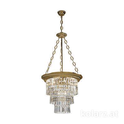 0346.34.4 Antique Brass, Ø50cm, Height 110cm, Min. height 120cm, Max. height 170cm, 4 lights, E27