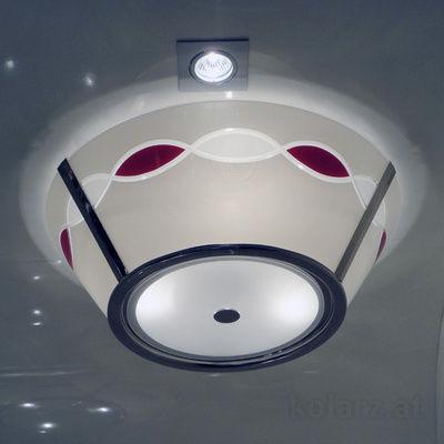 0347.13S.5.TWR Chrome, White/Red, Ø50cm, Height 2cm, 3 lights, E14