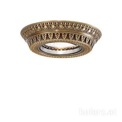 0360.10R.4 Antique Brass, Ø10cm, 1 light, GU10
