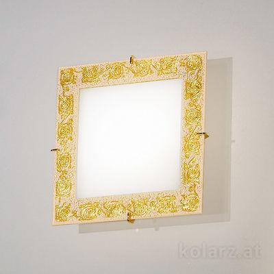 0364.UQ21.3 Золото 24 карата, Длина 20cm, Ширина 20cm, Макс. высота 5cm, 1 лампа, G9