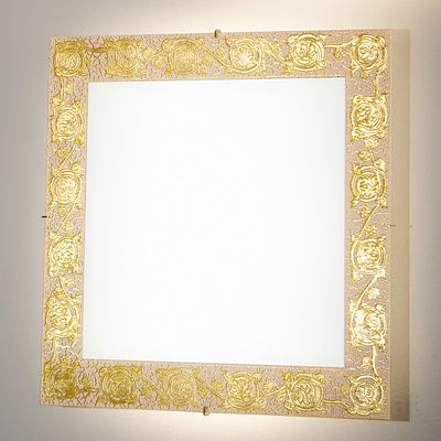 0364.UQ52.3 24 Carat Gold, Length 50cm, Width 50cm, Max. height 5cm, 2 lights, R7s 118mm