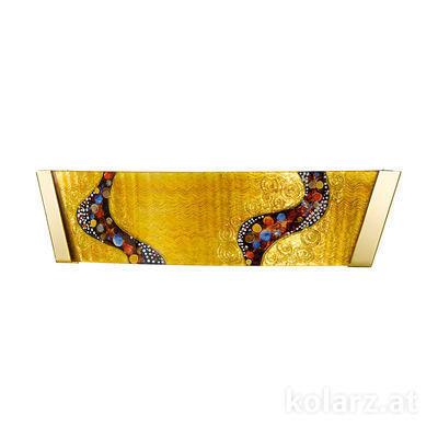 0365.61.3 24 Carat Gold, Width 41cm, Height 11cm, 1 light, R7s 78mm