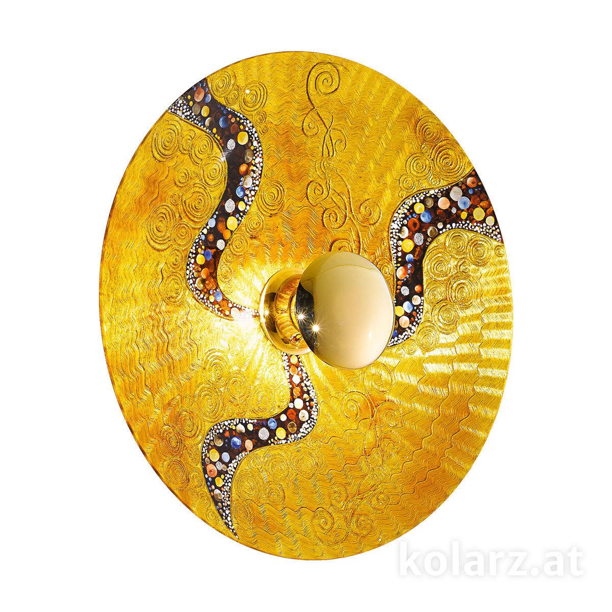 Applique Murale Luna Kiss Gold ø8920 Or 24 Carats ø89cm 1