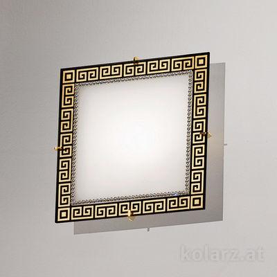 0379.UQ21.3.Bk 24 Karat Gold, Länge 20cm, Breite 20cm, Höhe 5cm, Max. Höhe 5cm, 1-flammig, G9
