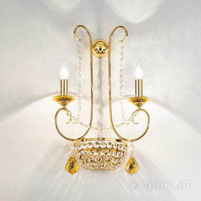 0381.62.3.SpT.Ki.A 24 Carat Gold, Width 39cm, Max. height 54cm, 2 lights, E14+G9