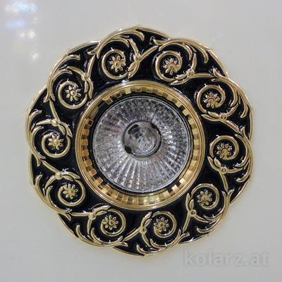 0387.10.Bk 24 Carat Gold, Black, Ø10cm, 1 light, GU10