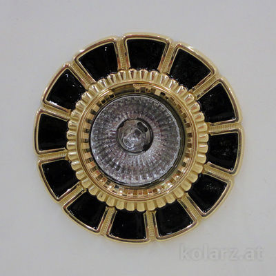 0388.10.Bk 24 Carat Gold, Black, Ø10cm, 1 light, GU10