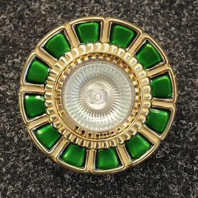 0388.10.G 24 Carat Gold, Green, Ø10cm, 1 light, GU10