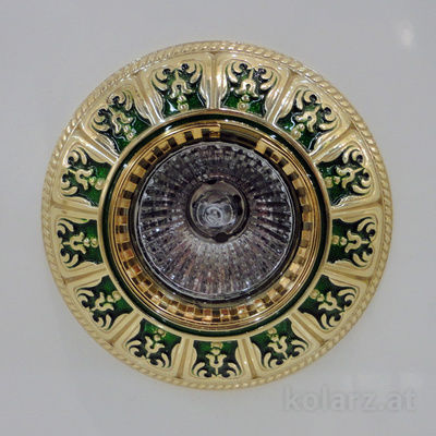 0389.10.G 24 Carat Gold, Green, Ø10cm, 1 light, GU10