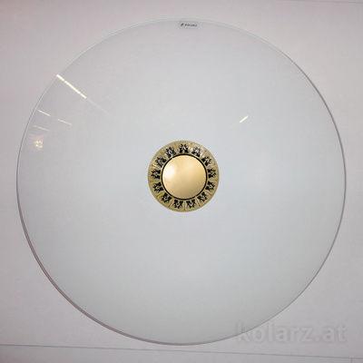 0389.U14.Bk 24 Carat Gold, Black, Ø54cm, Max. height 10cm, 4 lights, E27