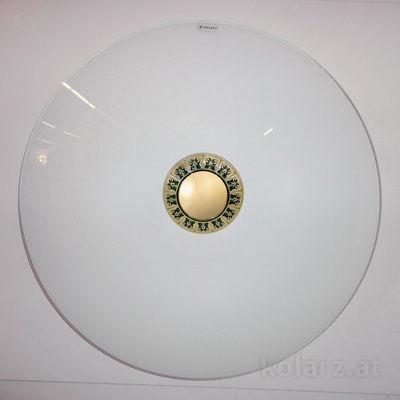 0389.U14.G 24 Carat Gold, Green, Ø50cm, Max. height 10cm, 4 lights, E27