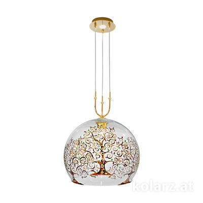 0392.31+1XL.3.Al.Mt 24 Carat Gold, Ø50cm, Height 200cm, Min. height 60cm, 1+1 lights, E27+GU10