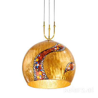 0392.31+1XL.3.Ki.Au 24 Carat Gold, Ø50cm, Height 200cm, Min. height 60cm, 1+1 lights, E27+GU10
