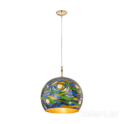 0392.31L.3.Aq.BG 24 Carat Gold, Ø40cm, Height 200cm, 1 light, E27