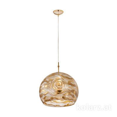 0392.31L.3.Aq.Ch 24 Carat Gold, Ø40cm, Height 200cm, 1 light, E27