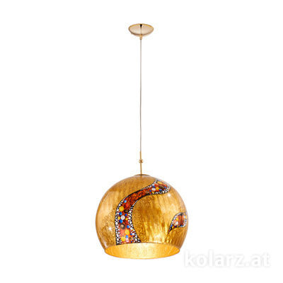 0392.31L.3.Ki.Au 24 Carat Gold, Ø40cm, Height 200cm, 1 light, E27