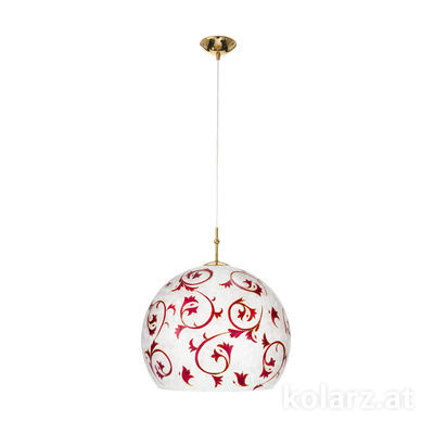 0392.31L.3.Tc.R 24 Carat Gold, Ø40cm, Height 200cm, 1 light, E27