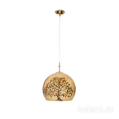 0392.31M.3.Al.Mu 24 Carat Gold, Ø30cm, Height 200cm, 1 light, E27