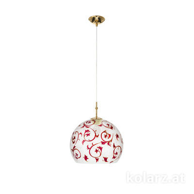 0392.31M.3.Tc.R 24 Carat Gold, Ø30cm, Height 200cm, 1 light, E27